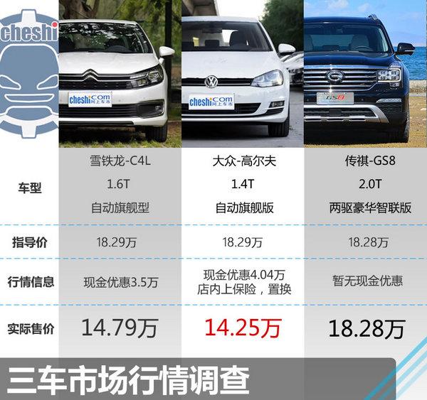 18.29万元该选谁 C4L/高尔夫/传祺GS8-图2