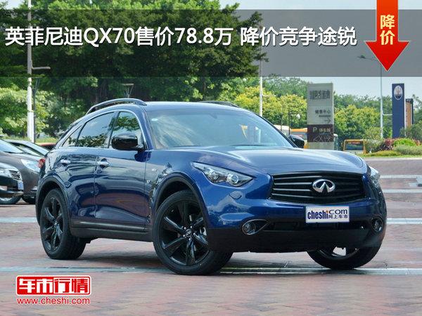 英菲尼迪QX70售价78.8万 降价竞争途锐-图1