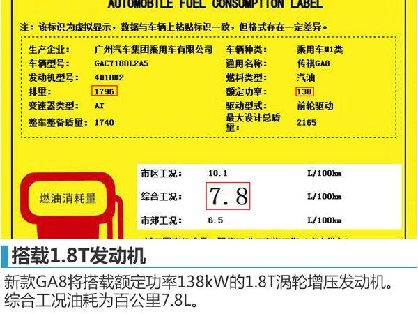 广汽传祺GA8搭小排量发动机 售价将下降-图1