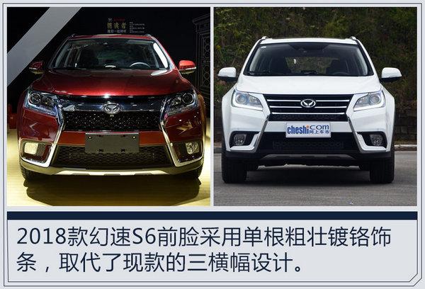 """北汽幻速2018款S6亮相 外观调整/更名""""幻速S6X""""-图1"""