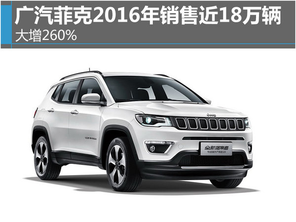 广汽菲克2016年销售近18万辆 大增260%-图1