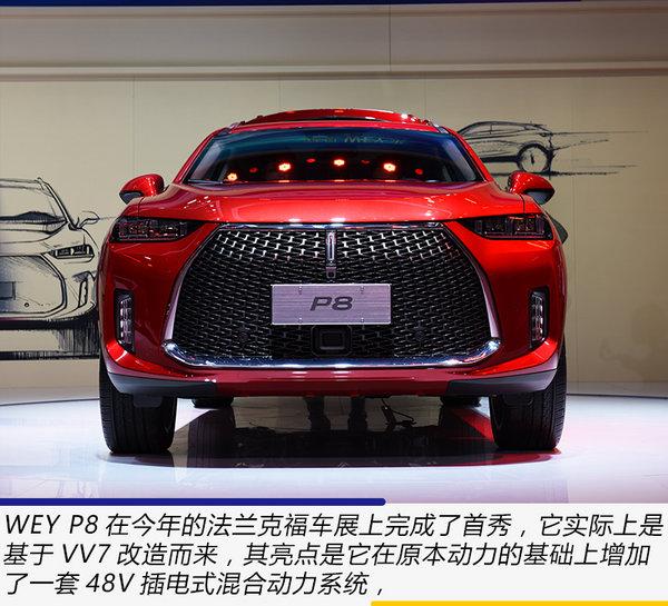 紧跟新能源车潮流 广州车展实拍体验WEY P8-图3