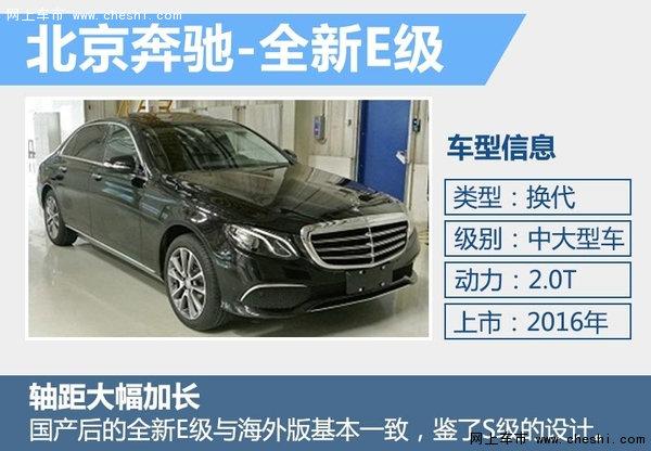 奔驰E级等六款新车将加长 北京车展亮相-图3