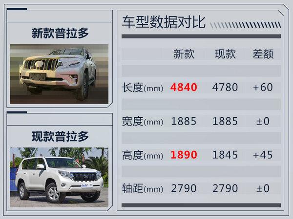 """一汽丰田新""""霸道""""实车曝光 车身尺寸大幅增长-图3"""