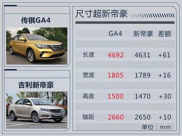广汽传祺GA4明年1月发布 搭2款动力/油耗仅6.3L-图5