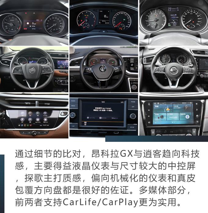 昂科拉GX/探歌/逍客谁才是15万SUV的最佳选择-图14