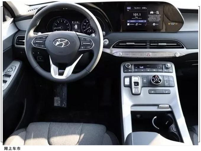 现代七座SUV实拍曝光 搭3.5L/配按键电子换挡-图6