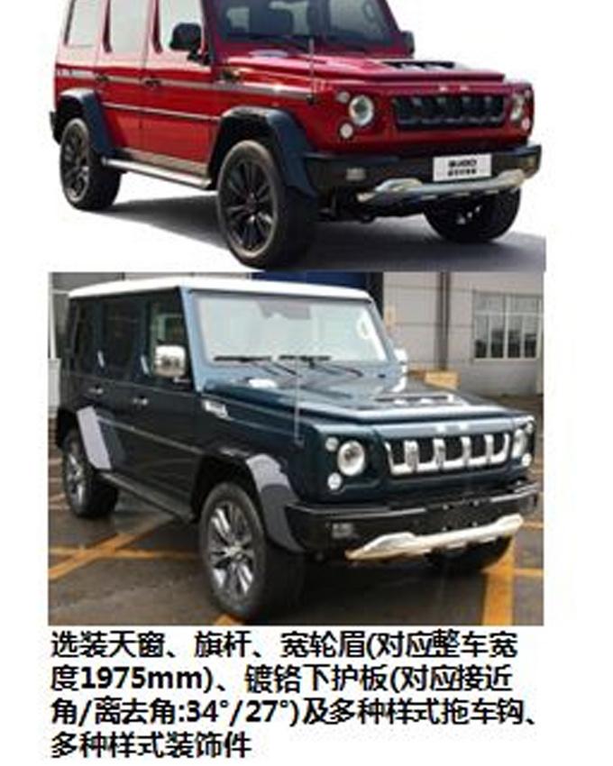 北京全新BJ80实拍曝光 搭3.0T+8AT或下月上市-图3