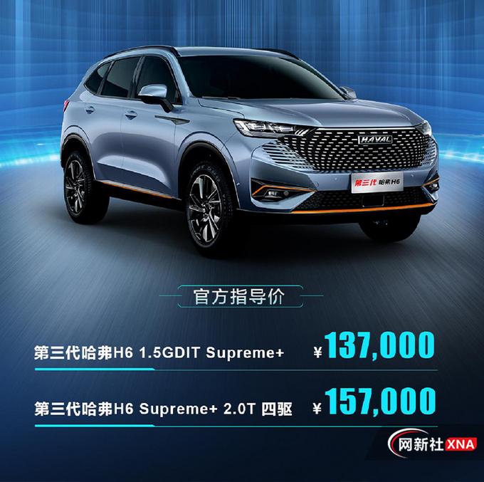 哈弗H6新车型上市售13.7-15.7万元 智能配置升级-图2