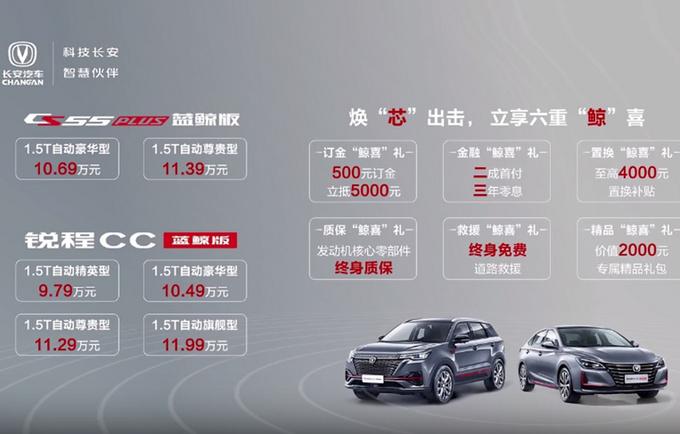 长安锐程CC/CS55 PLUS上市 9.79万起售/换新1.5T-图1