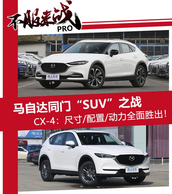 马自达SUV谁更值 CX-4尺寸更大-动力更强-图1