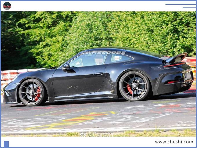保时捷全新911谍照曝光换新4.0L引擎/pk奔驰GT-图4