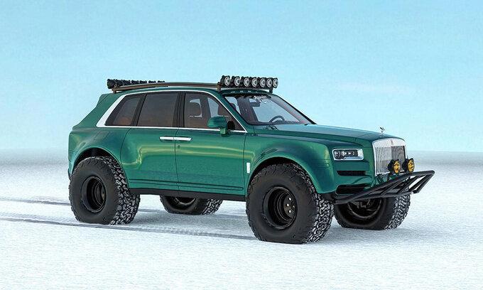 劳斯莱斯库里南新车型假想图 配备大尺寸雪地轮胎-图1