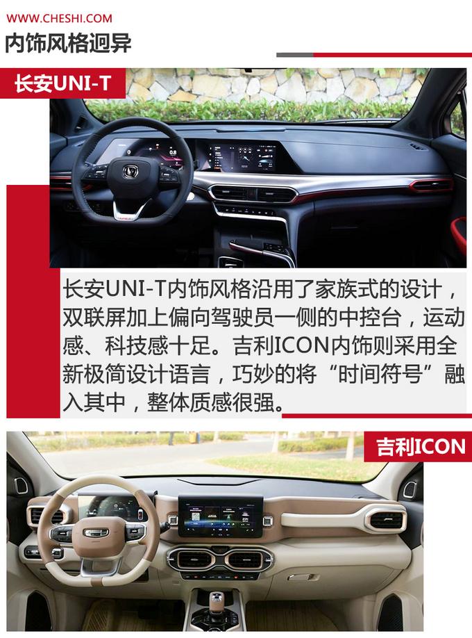 次世代SUV对决 长安UNI-T和吉利ICON怎么选-图10