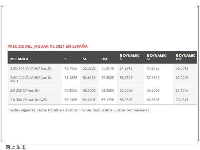 捷豹新款XE售价曝光搭2.0T引擎/配置大幅提升-图3