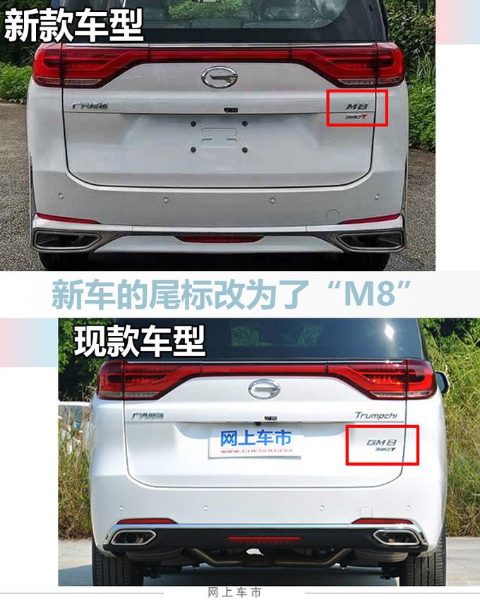 广汽传祺新款GM8更名M8前脸格栅更大尺寸加长-图6