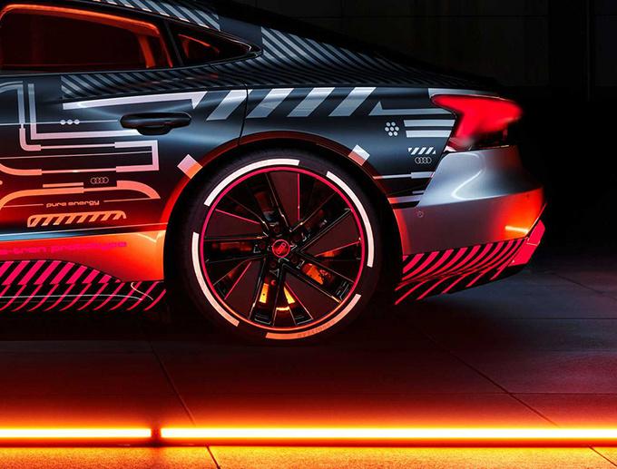 奥迪RS e-tron GT原型车官图 搭3电机/3秒内破百-图6