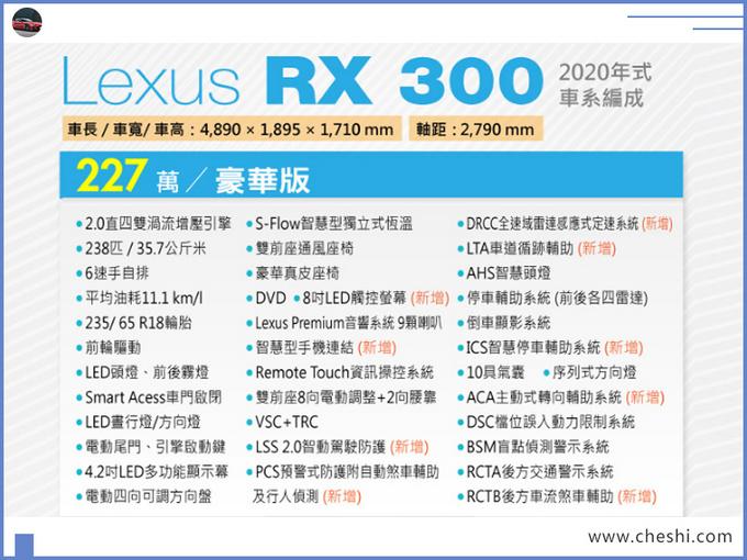 雷克萨斯新款RX正式上市外观升级/增多项配置-图9