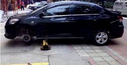 车行程略长 新威驰轮毂轮胎改装升级高清图片